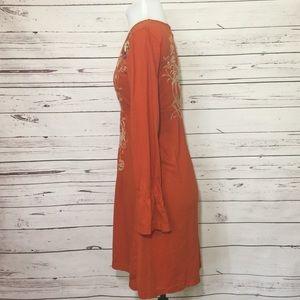 Johnny Was Dresses - Johnny Was Hummingbird Burnt Orange Dress